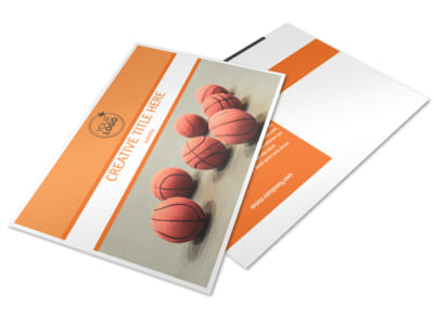 Basketball Camp Postcard Template