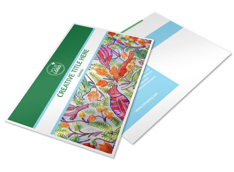 Art Exhibition Postcard Template Preview 4
