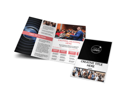 Office Event Photography Bi-Fold Brochure Template