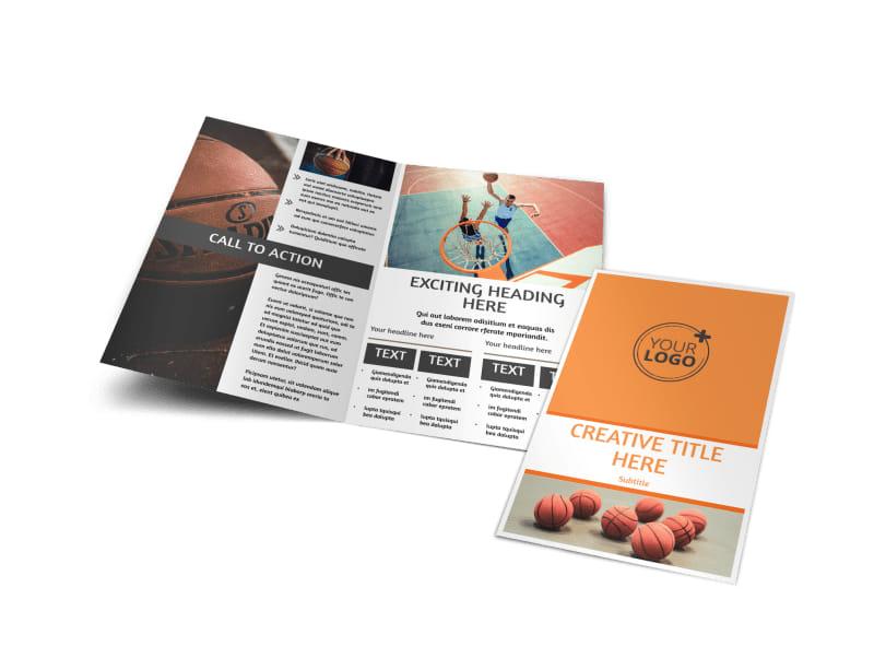 Basketball Camp Bi-Fold Brochure Template