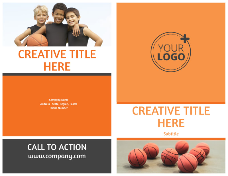 Basketball Camp Brochure Template Preview 2