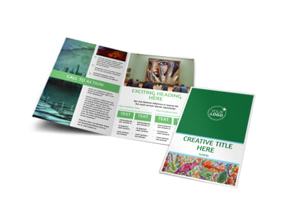 Art Exhibition Bi-Fold Brochure Template