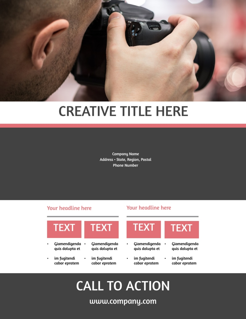 Office Event Photography Flyer Template Preview 3