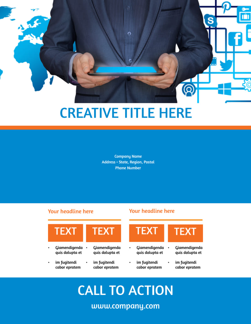 Website Service Options Flyer Template Preview 3