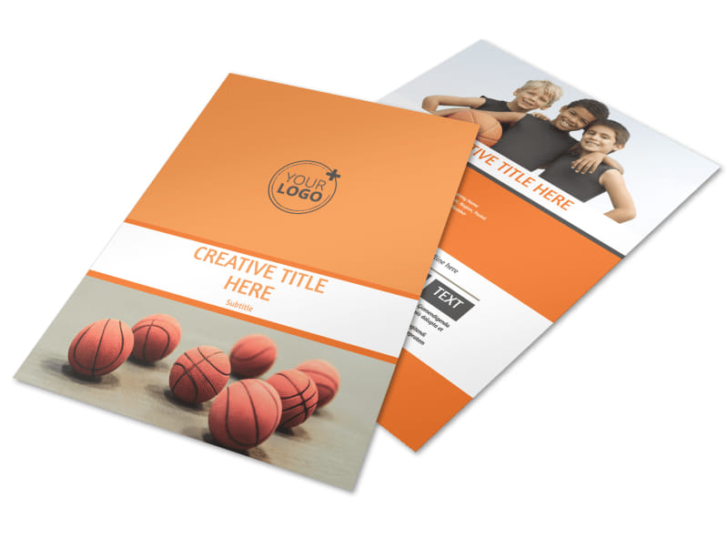 Basketball Camp Flyer Template | Mycreativeshop