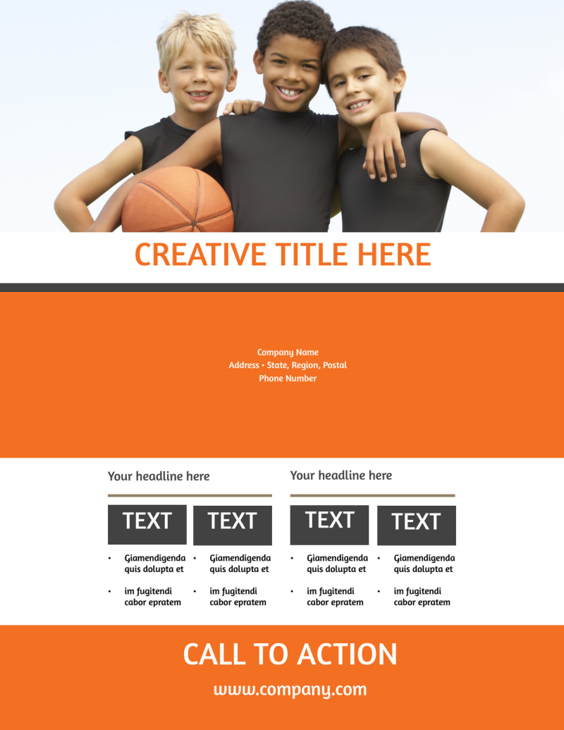 Basketball Camp Flyer Template Preview 3