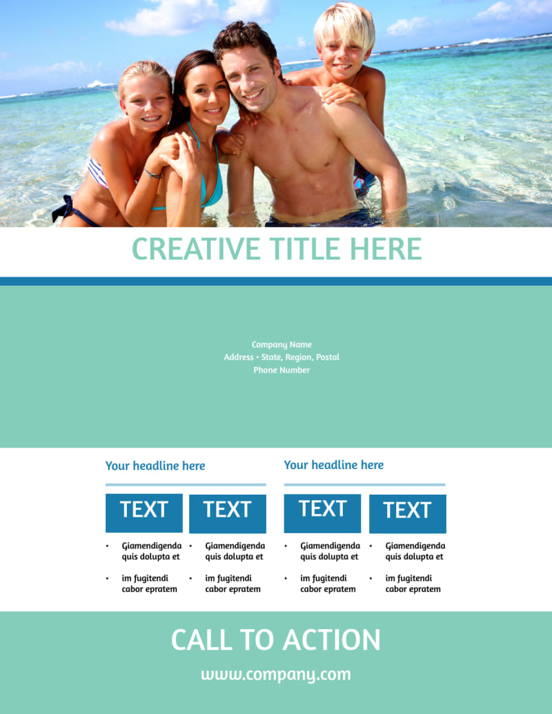 Time Share Opportunities Flyer Template Preview 3