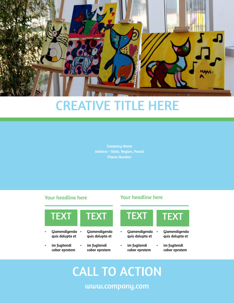 Art Exhibition Flyer Template Preview 3