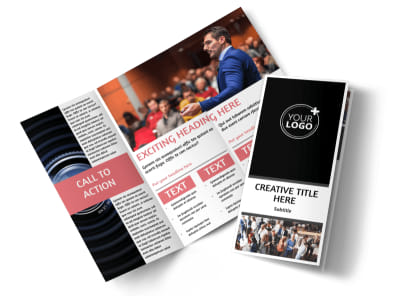 Office Event Photography Tri-Fold Brochure Template