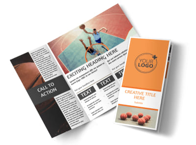Basketball Camp Tri-Fold Brochure Template preview