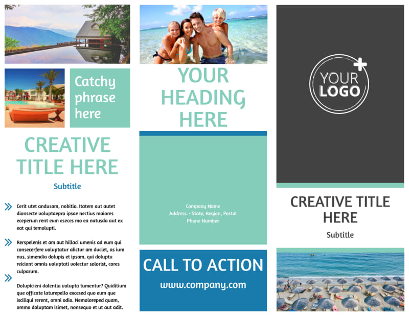 Time Share Opportunities Brochure Template Preview 2