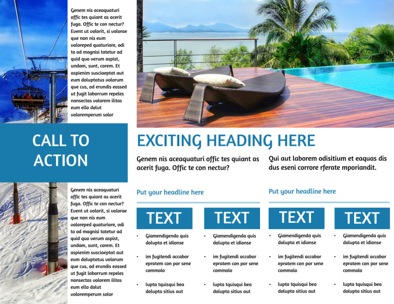 Time Share Opportunities Brochure Template Preview 3