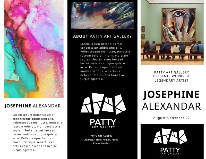 Art Exhibition Brochure Template Preview 2