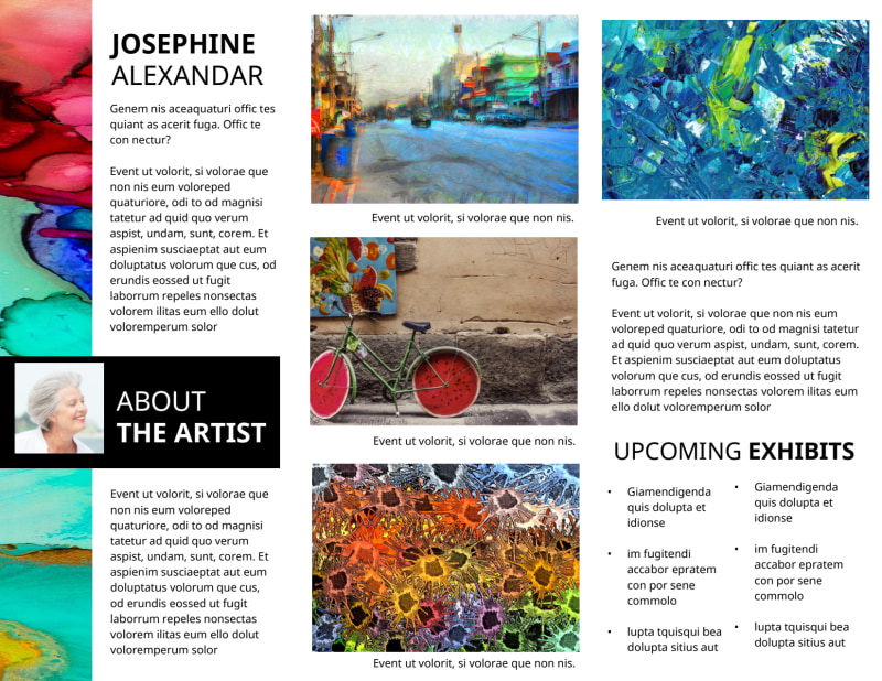 Art Exhibition Brochure Template Preview 3