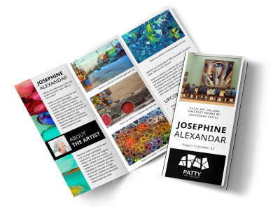 Art Exhibition Tri-Fold Brochure Template preview