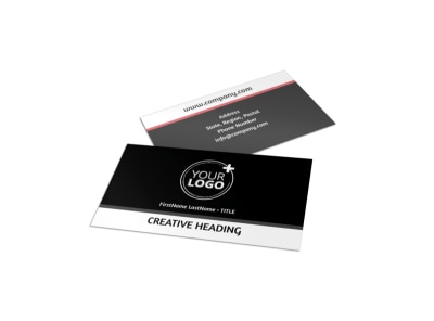 Office Event Photography Business Card Template