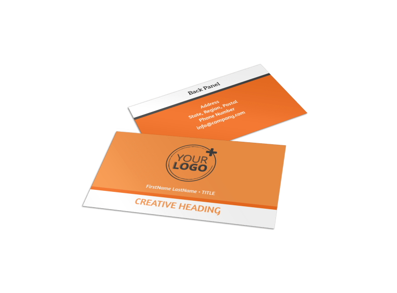 Basketball Camp Business Card Template Preview 1