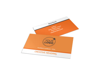 Basketball Camp Business Card Template preview