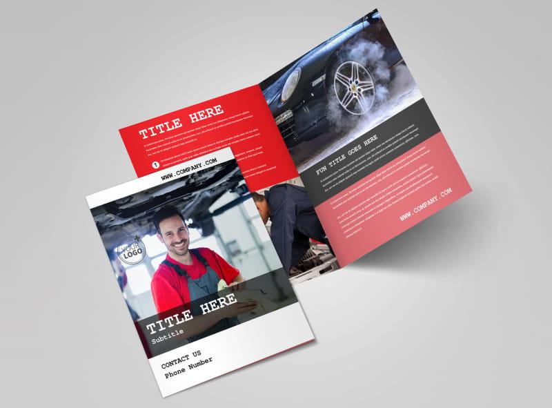 Roadside Assitance Bi-Fold Brochure Template 2