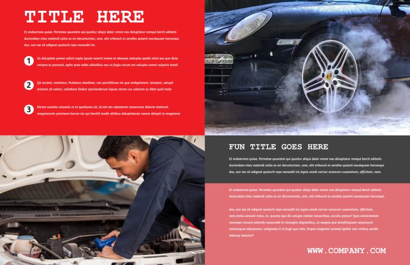 Roadside Assitance Brochure Template Preview 3