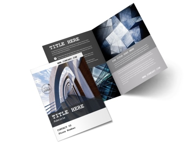 Modern Architect Bi-Fold Brochure Template 2