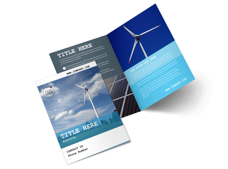 Wind Farm Bi-Fold Brochure Template 2