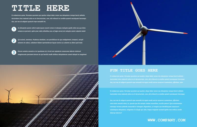 Wind Farm Brochure Template Preview 3
