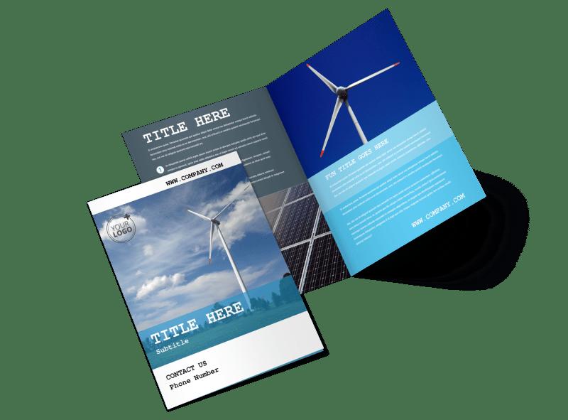 Wind Farm Brochure Template Preview 1