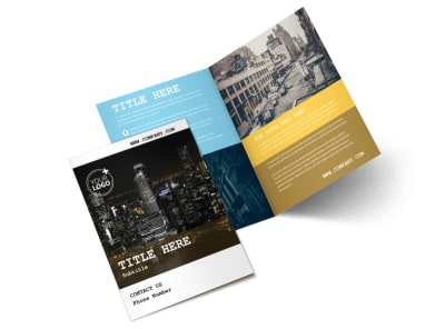 Urban Photography Bi-Fold Brochure Template 2