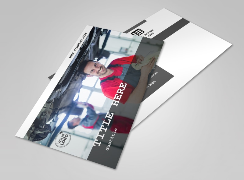 Roadside Assitance Postcard Template 2