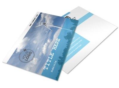 Wind Farm Postcard Template 2 preview