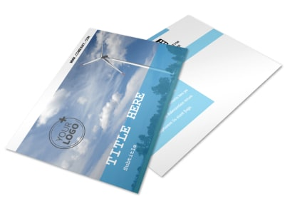 Wind Farm Postcard Template 2 preview