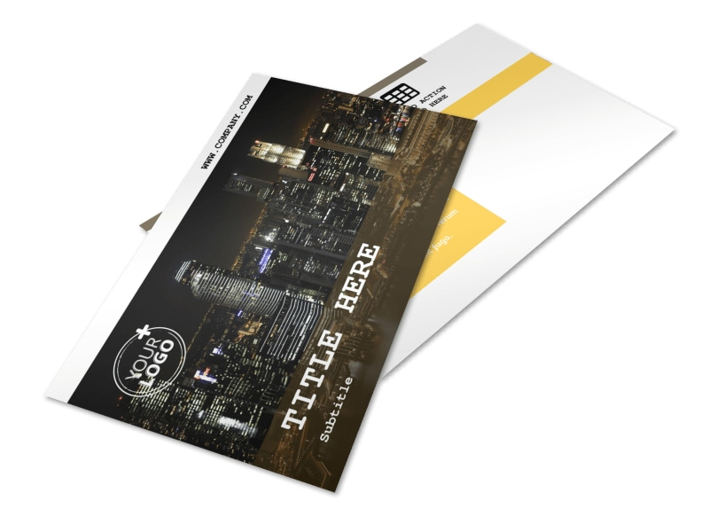 Urban Photography Postcard Template 2