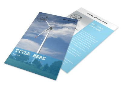 Wind Farm Flyer Template 3