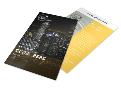 Urban Photography Flyer Template 3
