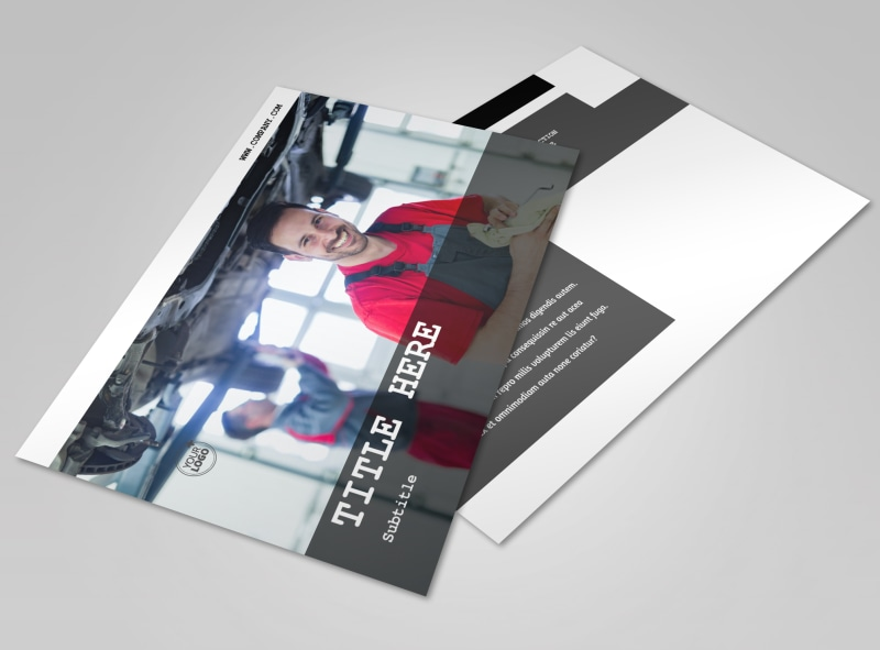 Roadside Assitance Postcard Template