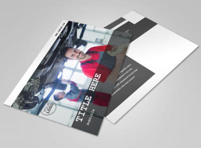 Roadside Assitance Postcard Template preview