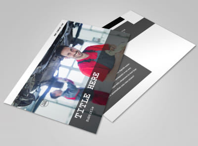 Roadside Assitance Postcard Template preview