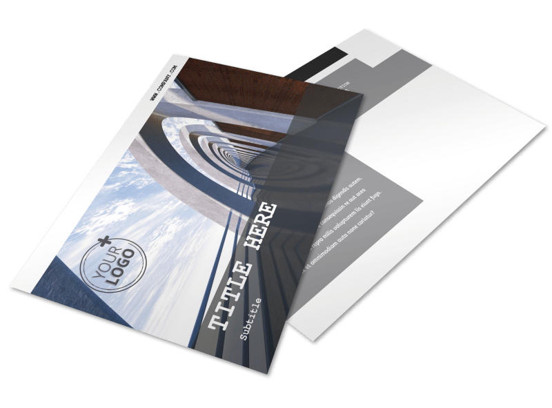 Modern Architect Postcard Template Preview 1