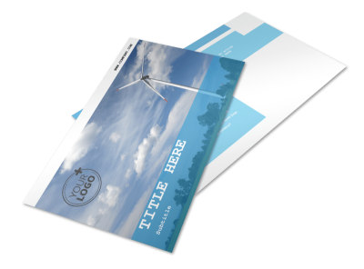 Wind Farm Postcard Template preview