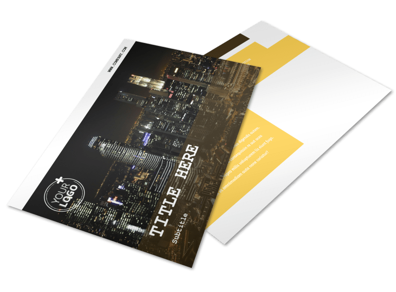 Urban Photography Postcard Template Preview 1