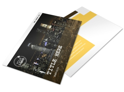 Urban Photography Postcard Template
