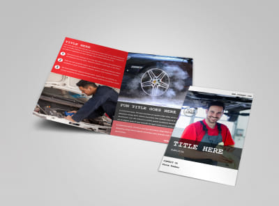 Roadside Assitance Bi-Fold Brochure Template