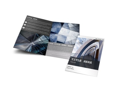 Modern Architect Bi-Fold Brochure Template preview