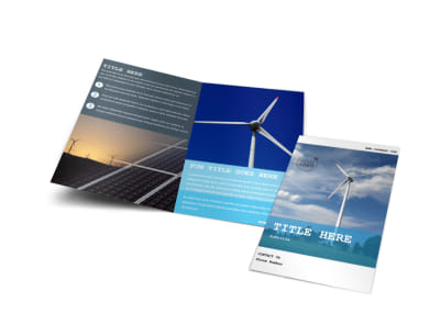 Wind Farm Bi-Fold Brochure Template preview