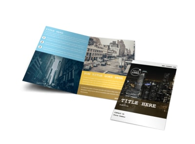 Urban Photography Bi-Fold Brochure Template