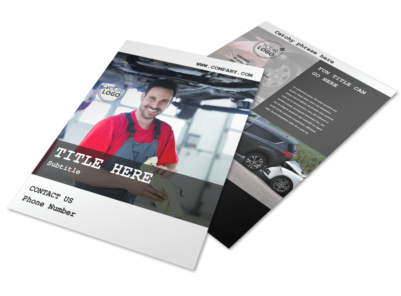 Roadside Assitance Flyer Template Preview 1