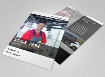 Roadside Assitance Flyer Template