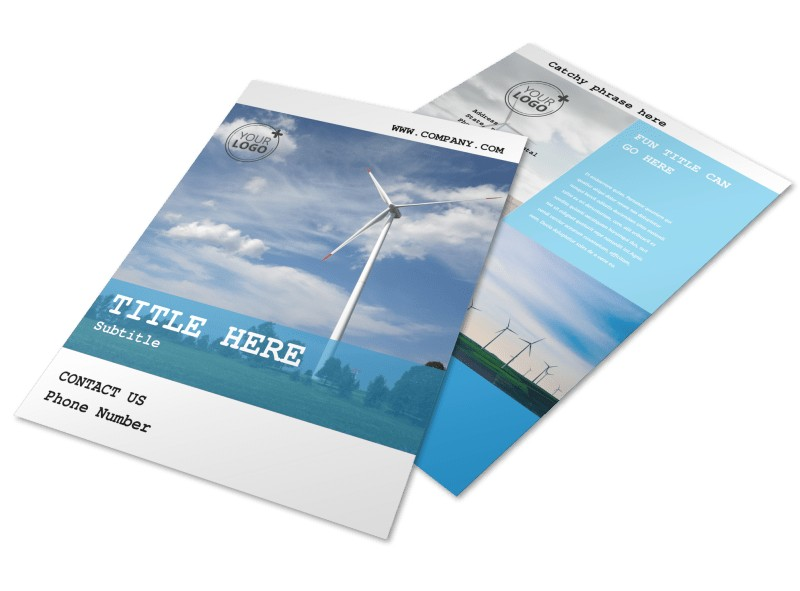 Wind Farm Flyer Template