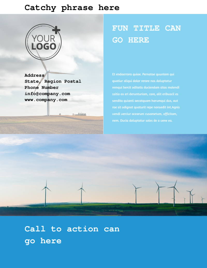 Wind Farm Flyer Template Preview 3